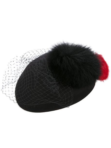 fur net hat black