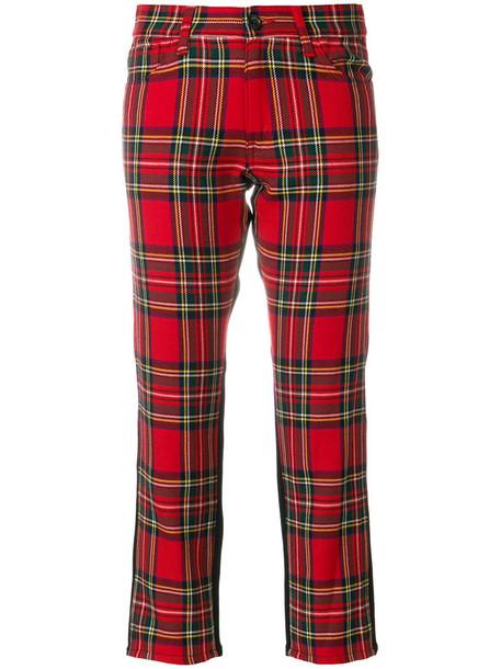 JUNYA WATANABE COMME DES GARÇONS jeans cropped jeans cropped women cotton wool tartan red