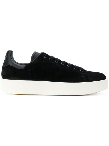 Adidas women sneakers suede black shoes