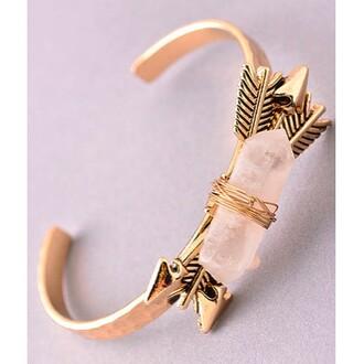 jewels jewel cult jewelry bracelets cuff bracelet gold silver gold bracelet arrow quartz crystal quartz boho boho chic bohemian boho jewelry bohemian jewelry