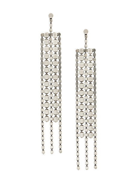 Isabel Marant women earrings grey metallic jewels