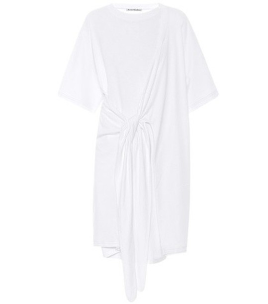 Acne Studios dress shirt dress t-shirt dress cotton white