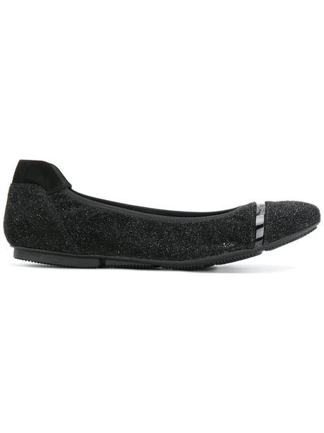 Hogan glitter women pumps leather black shoes