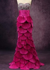 dress,party dress,diamond dress,fuchsia dress,fuchsia,long dress,wedding dress