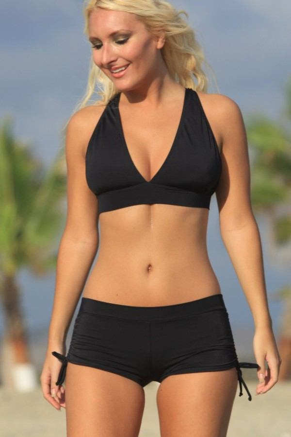 swimwear black bathingsuit swimshorts
