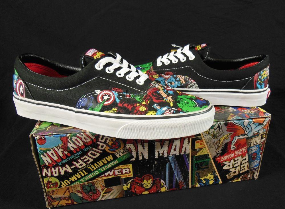 Vans Avengers / Hulk,Thor,Captain America,IronMan X Era Marvel Comics Sneakers