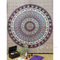 Mandala elephant tapestry wall hanging bedspread - queen/double   mandala tapestries   eyes of india