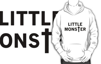 little monster white black ladygaga lady gaga pull sweater