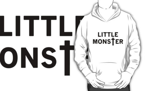 lady gaga white black little monster ladygaga pull