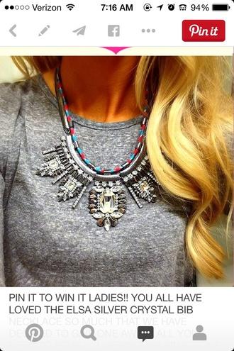 jewels statement necklace necklace fashion style crystal quartz