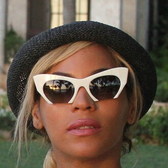 sunglasses outfit made beyonce cat eye