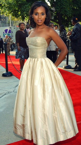 dress kerry washington celebrity style celebrity red carpet dress maxi dress long dress ball gown dress gown gold dress metallic dress tube dress