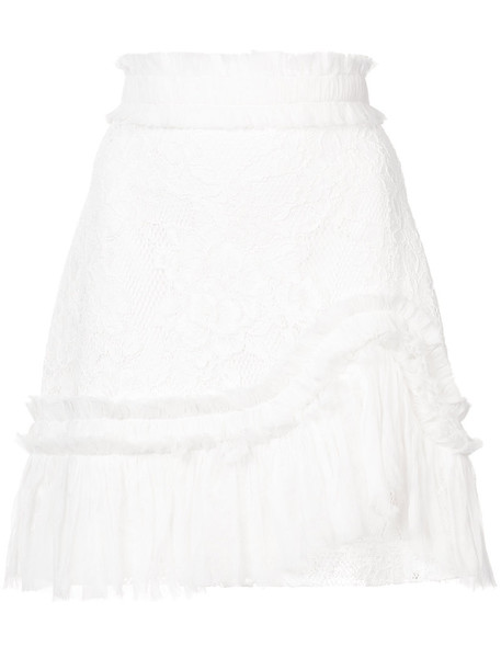 Alexis skirt lace skirt women spandex lace white cotton silk