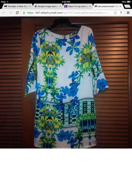floral dress mini 3/4 sleeve polyester my heart se brand my se brand