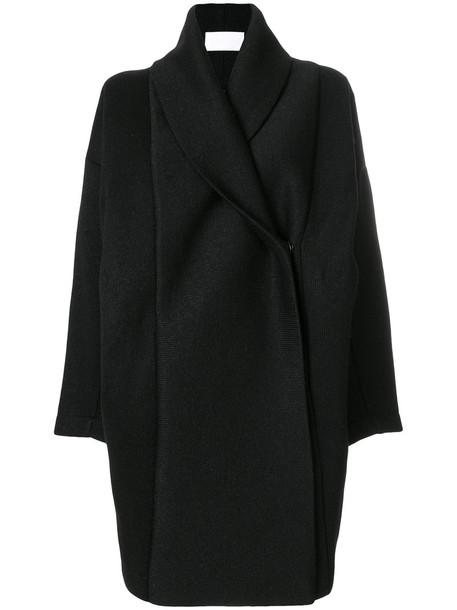 Reality Studio coat women black wool