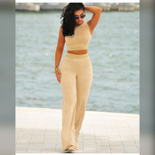 jumpsuit,nude faux suede,two-piece,two piece pantsuits,matching set,crop tops,nude,all nude everything,affordable,birthday,pants,set,beige