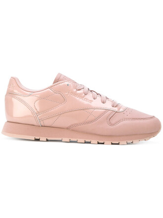 women classic sneakers leather purple pink shoes