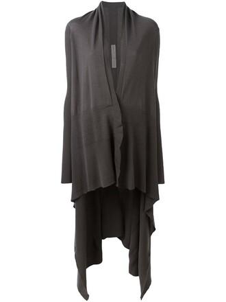 cardigan long draped grey sweater