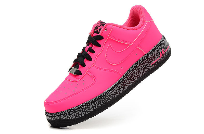 huge discount c97e8 d7d2e Nike Air Force 1 Custom Pink Black Runing Shoes