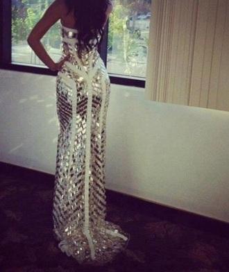 prom dress dress white dress gold gold dress