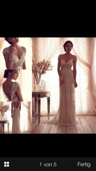dress long dress long prom dress white dress creme dress pearl dress sequin dress