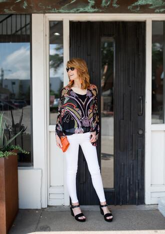themiddlepage blogger jacket top shoes bag jewels sunglasses