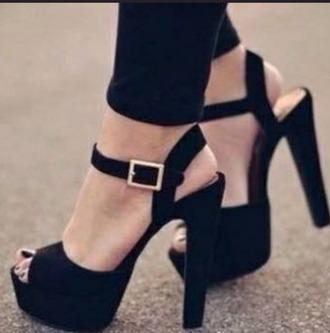 shoes black heels platform sandal heels high heels