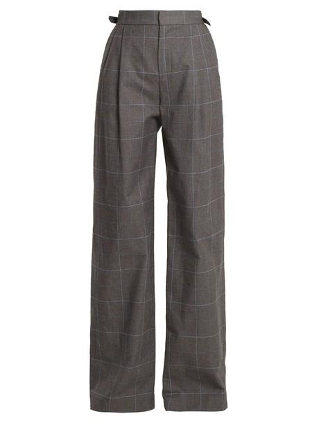 Attico cotton grey pants