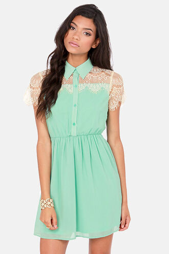 dress clothes mint shirtdress