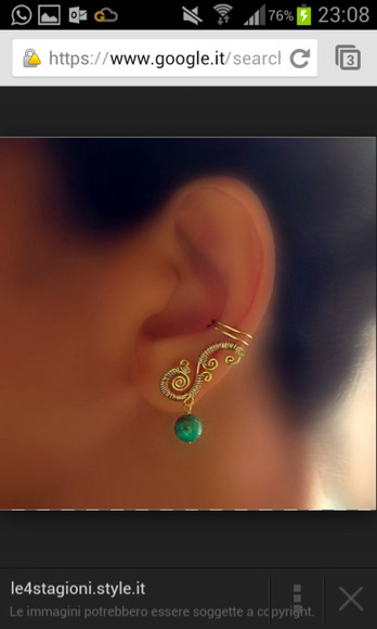 jewels earrings ear cuff dragon unicorn