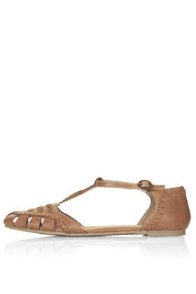 HANSEL Woven T Bar Shoes - Topshop