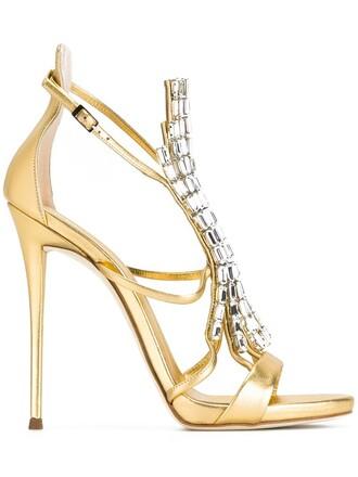 women sandals leather yellow orange shoes