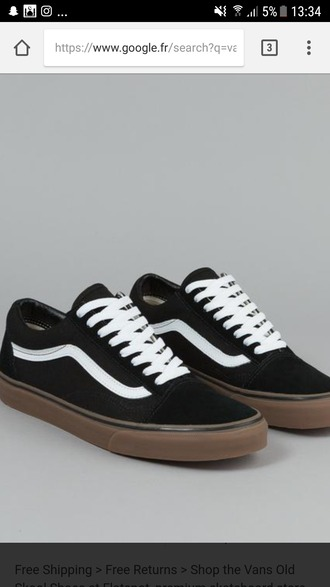 shoes vans old skool vans black shoes gum sole sneakers fashion