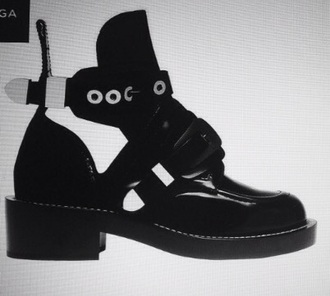 shoes black boots balenciaga