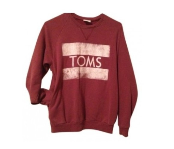 toms sweater wine red