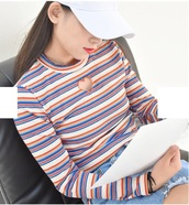 blouse,girly,stripes,striped top,long sleeves,cut-out,heart