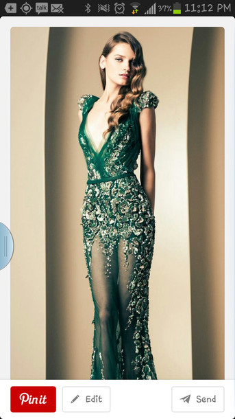 Dress Green Dress Prom Dress Formal Dress Beautiful