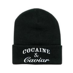 Cocaine & Caviar Black Beanie – Glamzelle