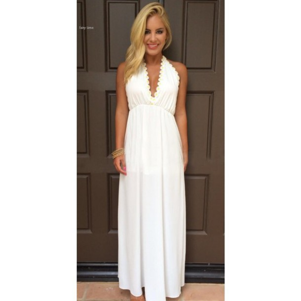 Long Fitted White Dresses