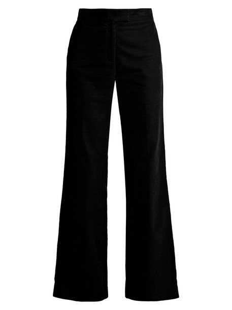 ALEXACHUNG high cotton black pants