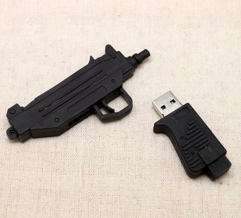 8gb new gift black machine gun model usb 2.0 memory flash stick pen drive u091