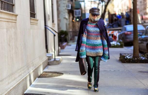 hippie hippie milkshake blogger fisherman cap knitted sweater