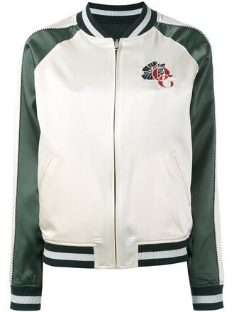 jacket bomber jacket satin bomber women white silk satin