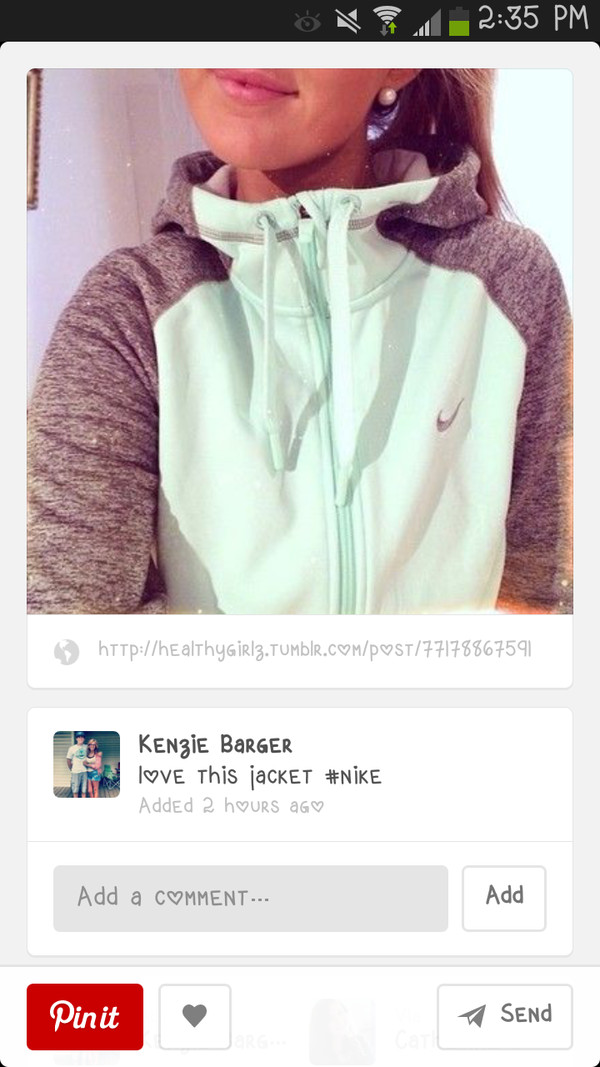 jacket nike nike sweater sweater gray hoodie cute