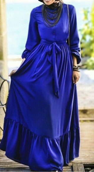 long sleeves robe longue robe longue long dress long sleeve dress blue dress bleue robe bleue manches