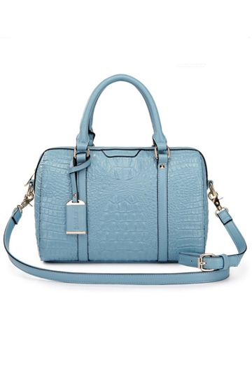 Fashion Compact Series Crocodile Handbag In Blue [FPB657] - PersunMall.com