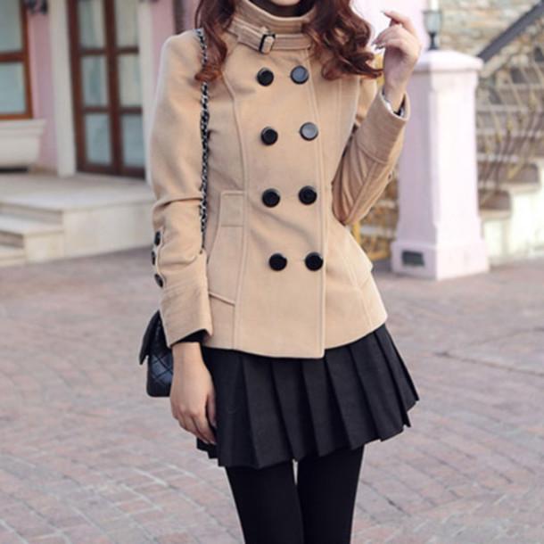 coat elegant double breasted