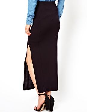 Vila | Vila Jersey Maxi Skirt With Side Split at ASOS