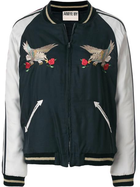 jacket bomber jacket eagle rose women green