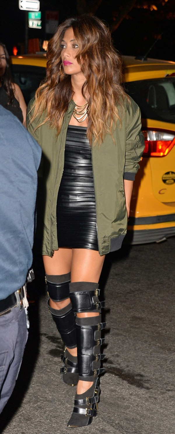 dress leather faux leather nicole scherzinger boots jacket